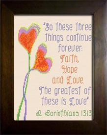 Faith Hope Love | Crafting | Cross-Stitch | Religious