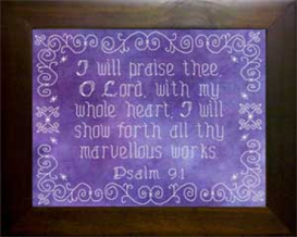 Icings - I Will Praise Thee   Crafting   Cross-Stitch   Religious