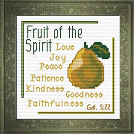 Fruit - Galatians 5:22 Chart | Crafting | Cross-Stitch | Religious