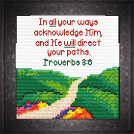 Paths - Proverbs 3:6 Chart | Crafting | Cross-Stitch | Religious