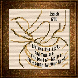 Potter  / Clay - Isaiah 64:8 Chart | Crafting | Cross-Stitch | Religious