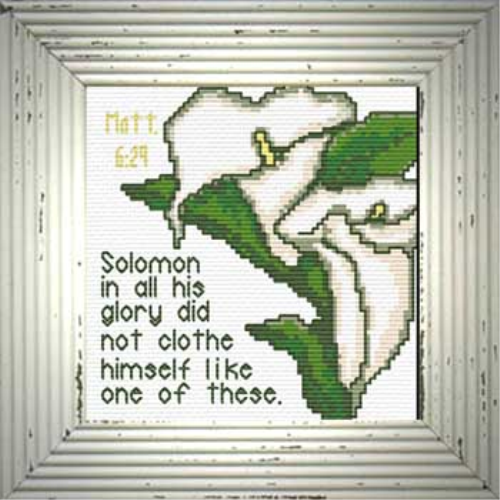 First Additional product image for - Solomon / Lilies - Matthew 6:29 Chart