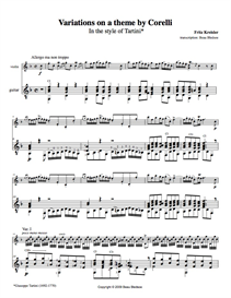variations on a theme by corelli - fritz kreisler