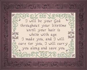 I Will Care For You | Crafting | Cross-Stitch | Religious