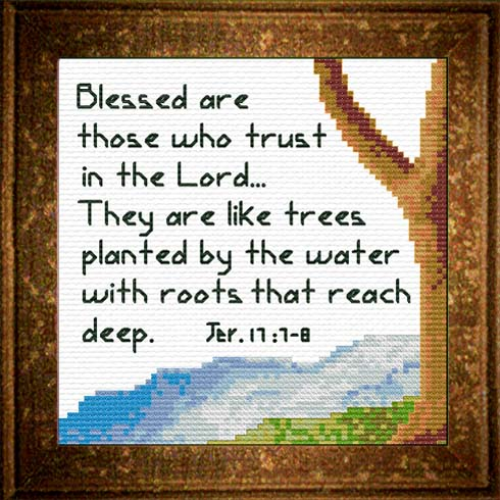 First Additional product image for - Tree / Water - Jeremiah 17:7-8 Chart