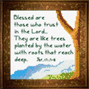 Tree / Water - Jeremiah 17:7-8 Chart | Crafting | Cross-Stitch | Religious