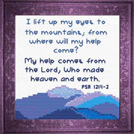 Mountains - Psalm 121:1-2 Chart | Crafting | Cross-Stitch | Other