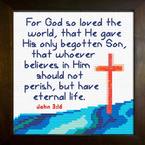 First Additional product image for - God so Loved - John 3:16 Chart