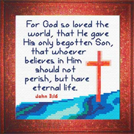 God so Loved - John 3:16 Chart | Crafting | Cross-Stitch | Religious