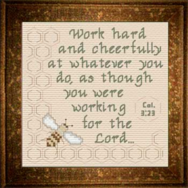 Work for The Lord | Crafting | Cross-Stitch | Religious