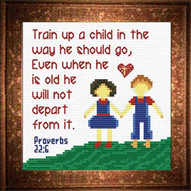 Train a Child - Proverbs 22:6 | Crafting | Cross-Stitch | Religious