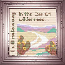 Wilderness - Isaiah 43:19 Chart | Crafting | Cross-Stitch | Religious