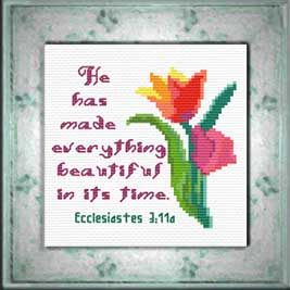 Beautiful - Ecclesiastes 3:11a | Crafting | Cross-Stitch | Religious
