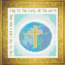 Sing to the Lord - Psalm 96:1 - Chart | Crafting | Cross-Stitch | Religious
