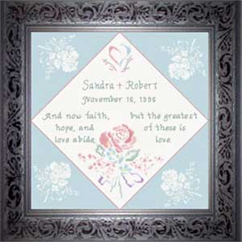 Wedding Anniversary Chart | Crafting | Cross-Stitch | Religious