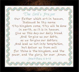 The Lord's Prayer Chart | Crafting | Cross-Stitch | Religious