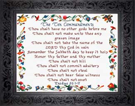 The Ten Commandments | Crafting | Cross-Stitch | Religious