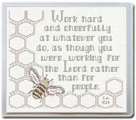 Work for the Lord - Mouse Pad - Chart | Crafting | Cross-Stitch | Religious