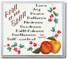 Fruit of the Spirit - Mouse Pad - Chart | Crafting | Cross-Stitch | Religious