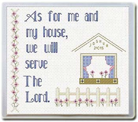 House/Serve Lord - Mouse Pad - Chart | Crafting | Cross-Stitch | Religious