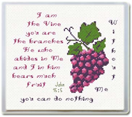 Vine / Branches Mouse Pad - John 15:5 - Chart | Crafting | Cross-Stitch | Religious