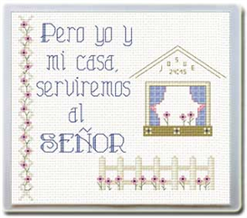 Casa Serviremos Senor  - Diseo / dibujo | Crafting | Cross-Stitch | Religious