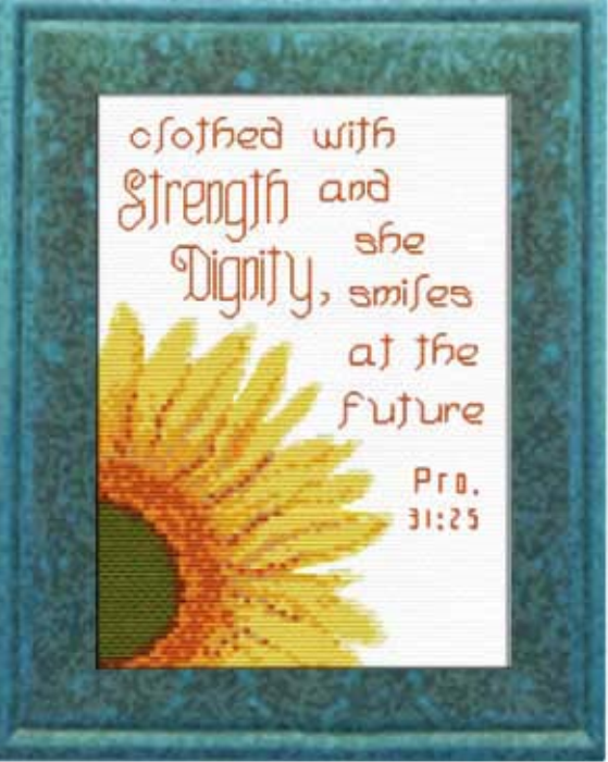First Additional product image for - Strength Dignity - Proverbs 31:25 Chart