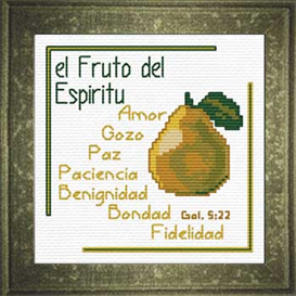 Fruto del Espiritu | Crafting | Cross-Stitch | Religious
