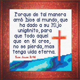 Vida Eterna - San Juan 3:16 Chart | Crafting | Cross-Stitch | Religious