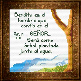 Arbol Agua | Crafting | Cross-Stitch | Religious