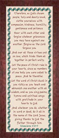 God's People Colossians 3:12-17 | Crafting | Cross-Stitch | Religious
