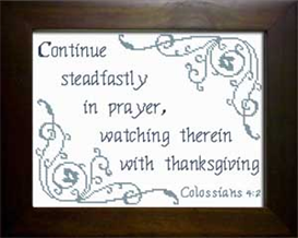 Continue Steadfastly - Colossians 4:2 | Crafting | Cross-Stitch | Religious