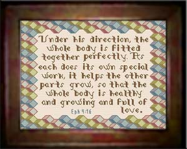 Whole Body - Ephesians 4:16 | Crafting | Cross-Stitch | Religious