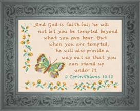 God is Faithful - I Corinthians 9:24 | Crafting | Cross-Stitch | Religious