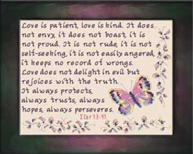 Love | Crafting | Cross-Stitch | Religious