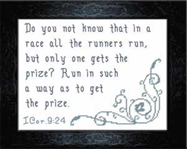Run The Race - I Corinthians 9:24 | Crafting | Cross-Stitch | Religious