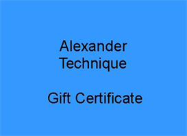 Alexander Technique Gift Certificate | Other Files | Documents and Forms