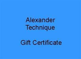 alexander technique gift certificate