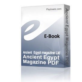 Ancient Egypt Magazine PDF Issue 69 | eBooks | History