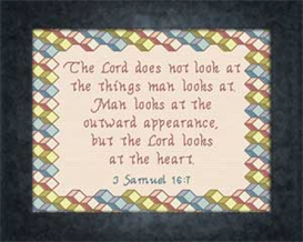 The Lord Looks at the Heart | Crafting | Cross-Stitch | Other