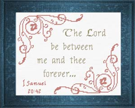 Between Me and Thee - I Samuel 20:42 | Crafting | Cross-Stitch | Other