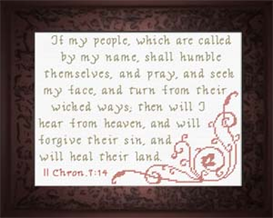 If My People - II Chronicles 7:14 | Crafting | Cross-Stitch | Other