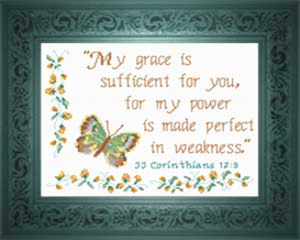 My Grace is Sufficient | Crafting | Cross-Stitch | Other