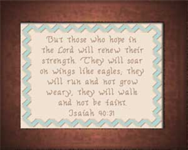 Wings Like Eagles - Isaiah 40:31 | Crafting | Cross-Stitch | Other