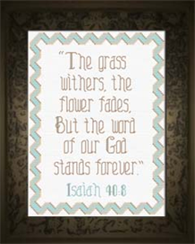 Word of God - Isaiah 40:8 | Crafting | Cross-Stitch | Religious