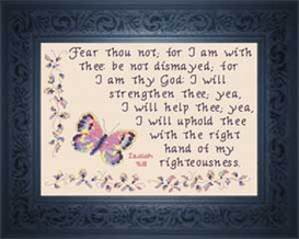 Fear Thou Not - Isaiah 41:10 | Crafting | Cross-Stitch | Religious