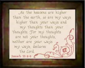 My Ways Higher - Isaiah 55:8-9 - Chart | Crafting | Cross-Stitch | Religious