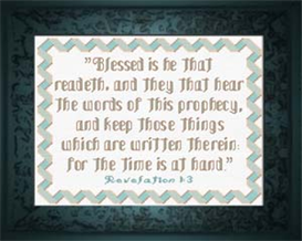 Words of Prophecy - Revelation 1:3 - Chart | Crafting | Cross-Stitch | Religious
