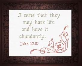 life abundantly - john 10:10