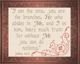 Vine Branches - John 15:5 Chart | Crafting | Cross-Stitch | Religious